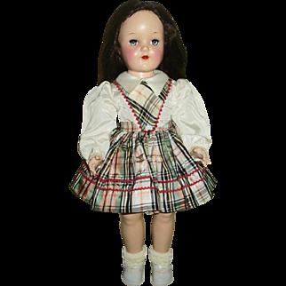Vintage Ideal P-92 All Original Brunette No Bang HP Toni Doll
