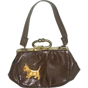 Cute Vintage Scottie Dog Purse for Doll or Child