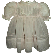 Vintage Original Effanbee Organdy Dress For Large Baby~Toddler Doll