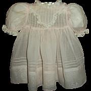 Vintage Original Effanbee Organdy Dress For Large Baby~Toddler Doll