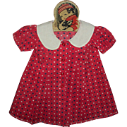 """Tagged Molly'es Shirley Temple Dress For Large 27"""" Composition Shirley Doll"""