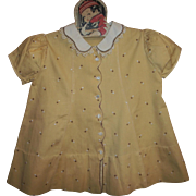 Vintage 1930's Tagged Dionne Quintuplet~Child Dress