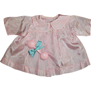 """Original  Effanbee 20"""" Mold 1 Dy-Dee Pink Silk Coat & """"Hold Me Tight"""" Rattle"""