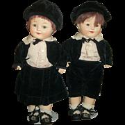 Adorable 1920's Horsman All Original Horsman Twin Boy & Girl Dolls