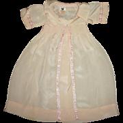 Original Dy-Dee Long Pink SILK Coat~Tagged Effanbee NRA Logo