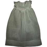 Effanbee Dy-Dee Doll Organdy Gown With Pink Embroidered Dotted Collar