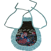Adorable Dy-Dee Doll Vinyl JACK And JILL Bib Apron