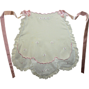 Sweet Vintage Hand Embroidered Child's Apron
