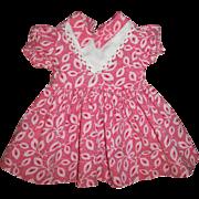 Cotton Print Factory Made Doll Dress