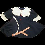 Hard To Find Original Ideal Large Size Saucy Walker Coat and Bonnet Set
