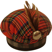 Vintage Sewing Plaid Pin Cushion