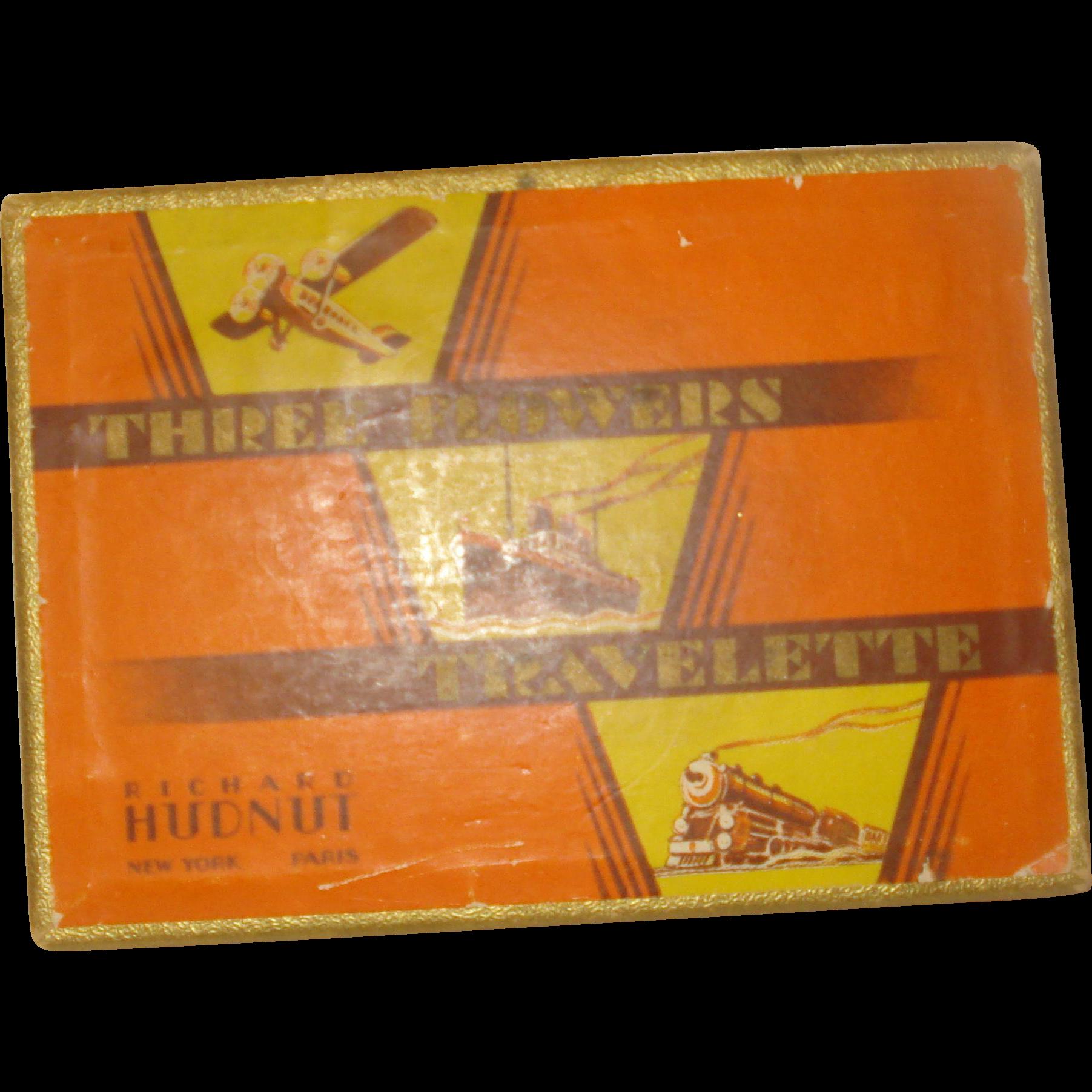 Vintage Richard Hudnut Three Flowers Travelette Perfume Box