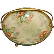 Limoges Porcelain Strawberry Bowl