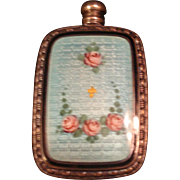 Miniature Sterling Guilloche Perfume
