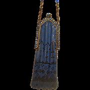 Vintage Blue Mesh purse with Stones