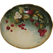 Beautiful Limoges Porcelain Raspberry Compote