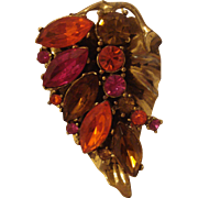 Unsigned Costume Jewelry Leaf Pin