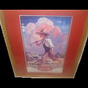 Framed Coca-Cola Calendar 1937