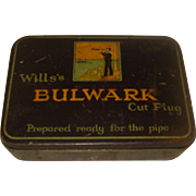 Vintage Tobacco Tin Wills's Bulwark Cut Plug