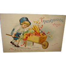 Thanksgiving Postcard Clapsaddle - Red Tag Sale Item