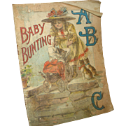 "Early Linen Children's Story Book ""Baby Bunting"""