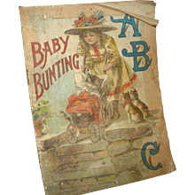 """Early Linen Children's Story Book """"Baby Bunting"""" - Red Tag Sale Item"""