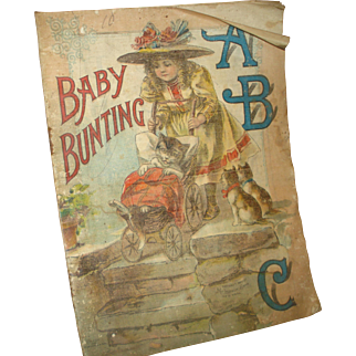 """Early Linen Children's Story Book """"Baby Bunting"""""""