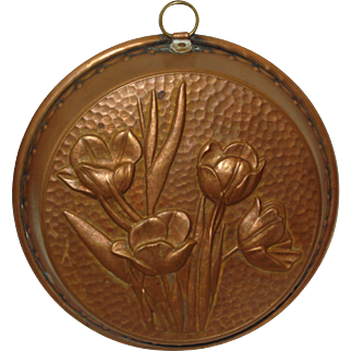 Vintage Copper Mold with Flowers