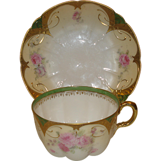R S Prussia Porcelain Cup & Saucer