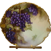 Haviland Limoges Charger with Grapes & Gold