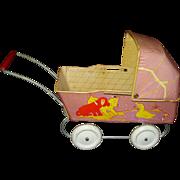 Wyandotte Tin Litho Doll Stroller