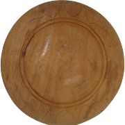 Early Wood Bread Board with Hearts