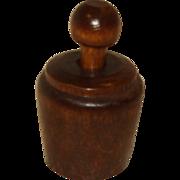 Miniature Wood Butter Stamp
