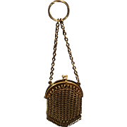 Vintage French Chatelaine Mesh Purse