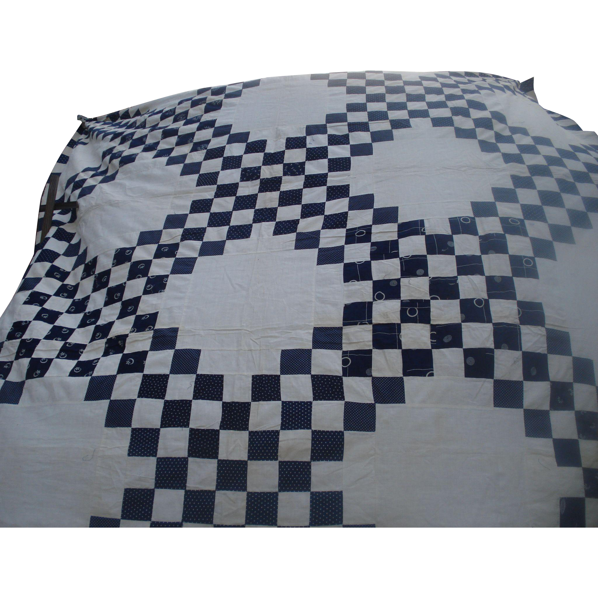 Early Blue & White Quilt Top