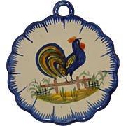 Quimper Rooster hanging Placque
