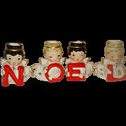 Vintage Christmas Angel Noel Candle Holders Shafford Japan