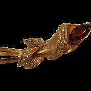 Unsigned Costume Jewelry Pin Topaz