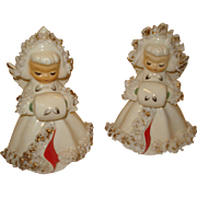 Vintage Holt Howard Christmas Angel Candle Holders