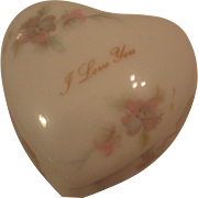 Vintage Heart Shaped Limoges Trinket Box