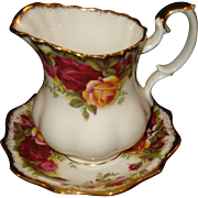 Old Country Roses Creamer with Matching underplate