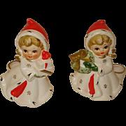 Vintage Christmas Napcoware Candleholders