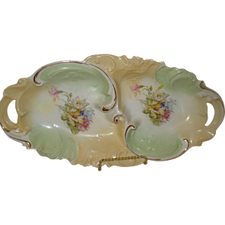 R S Prussia Porcelain Divided Relish Dish