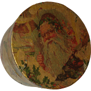 Vintage Decoupage Santa / Christmas Box