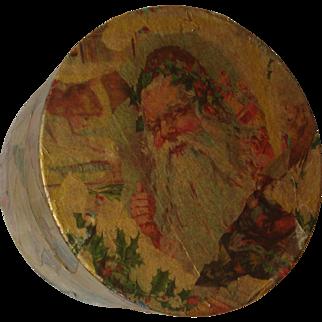 Vintage Decoupage Santa / Christmas Box