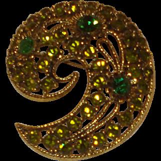 Unsigned Costume Jewelry Pin