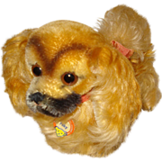 Vintage Steiff Dog Peky - Red Tag Sale Item