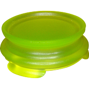 Tiffin Vaseline Satin Glass Base