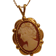 Vintage 14 kt. gold filled Cameo Necklace