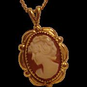 Vintage 14 kt. gold filled Cameo Necklace